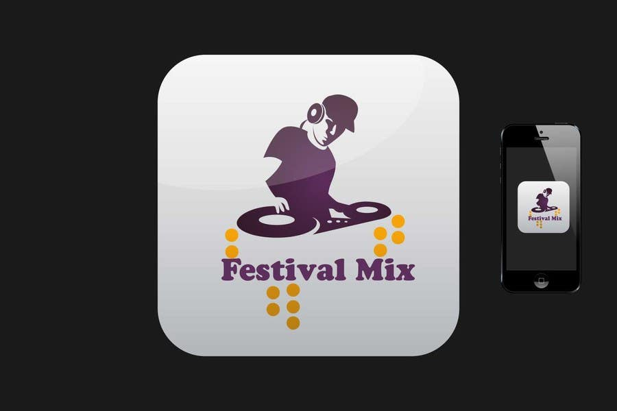 Bài tham dự cuộc thi #                                        6                                      cho                                         Design Iphone App Icon for a Music Festival Playlist app