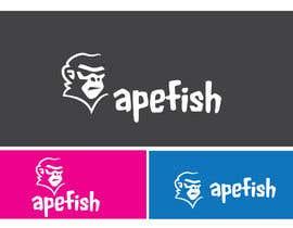 Nro 3 kilpailuun Apefish logo käyttäjältä orangethief