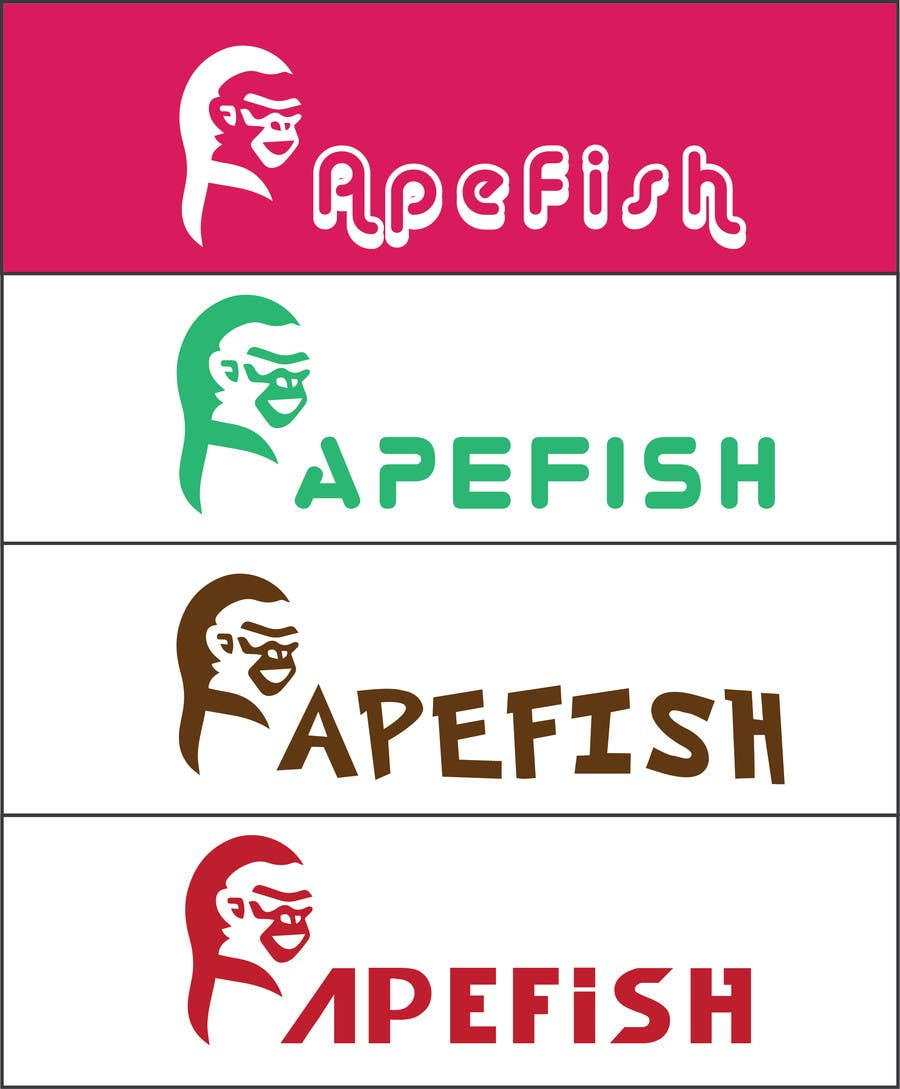 Kilpailutyö #7 kilpailussa Apefish logo