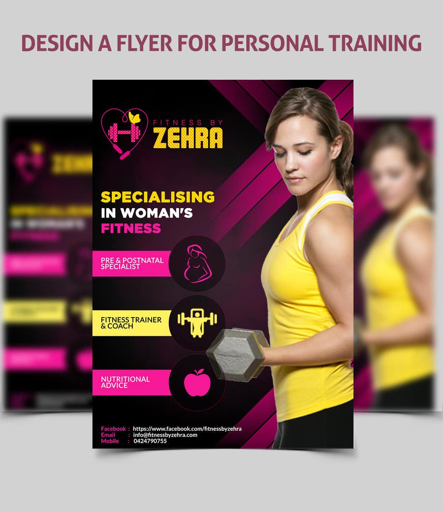 entry 14 by amirkust2005 for design a flyer for personal training