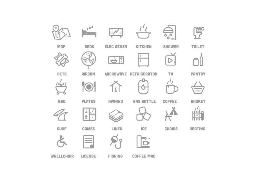 Kilpailutyö #15 kilpailussa Design some Icons for my website