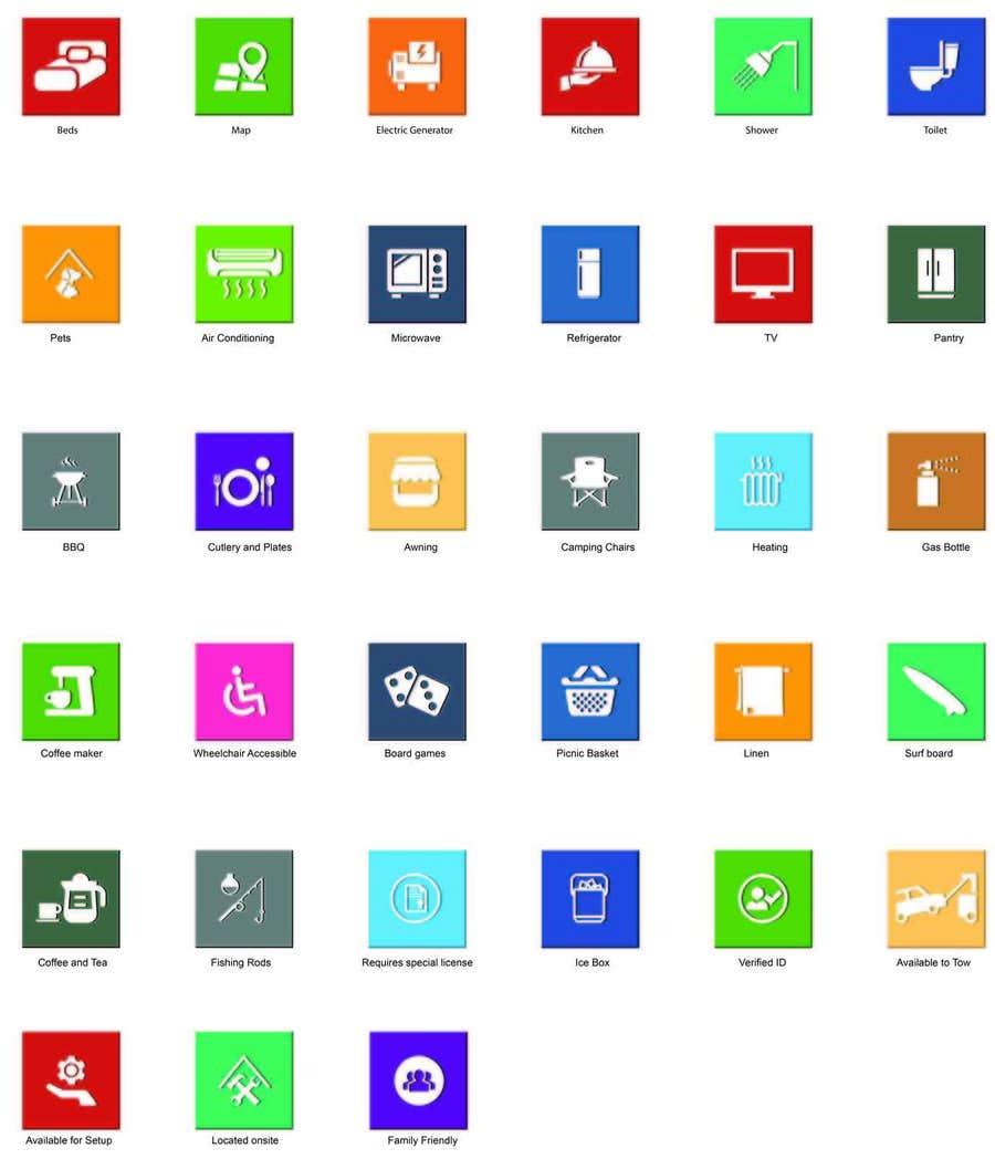 Kilpailutyö #19 kilpailussa Design some Icons for my website