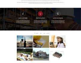 #7 untuk Design a Website Mockup for small building company oleh mahiweb123