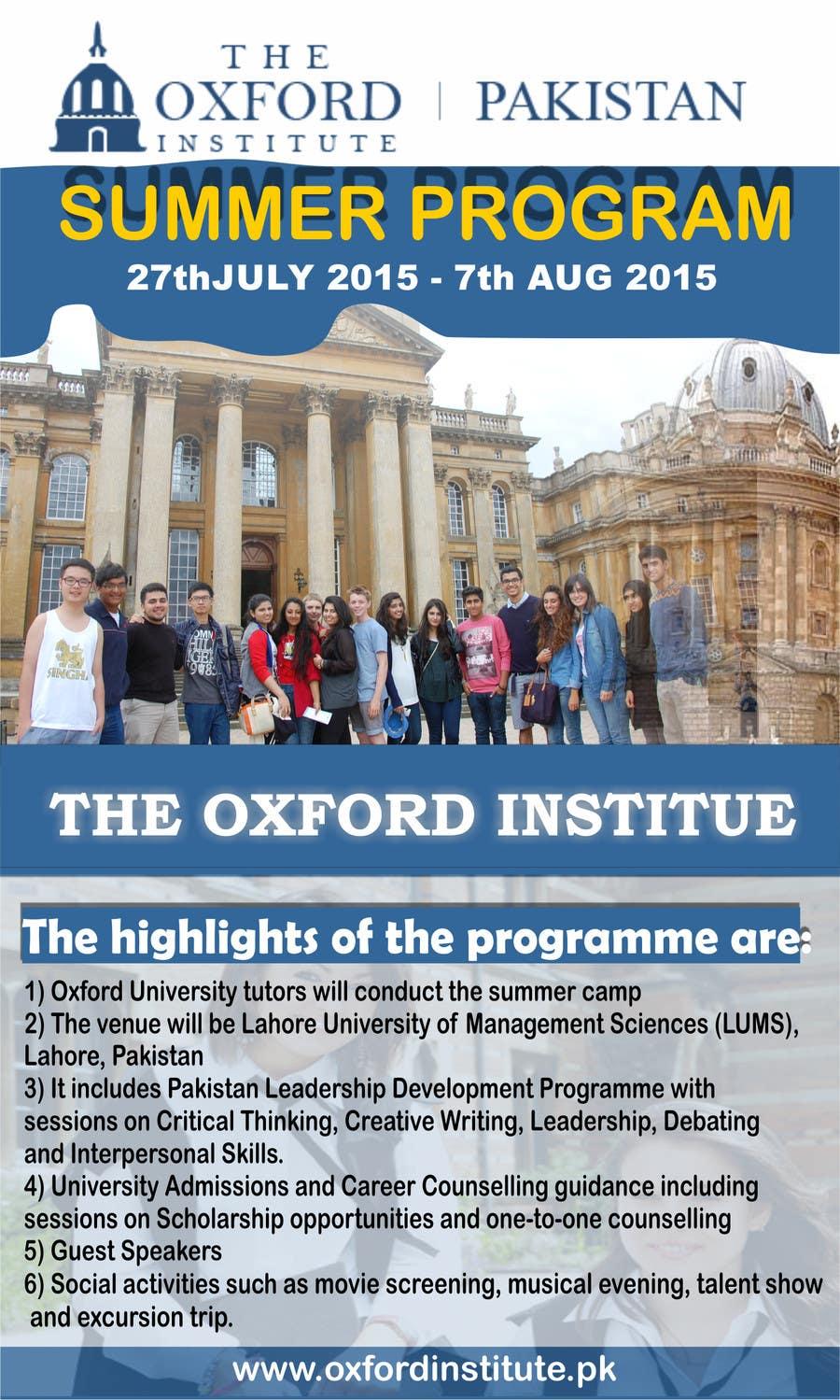 Bài tham dự cuộc thi #48 cho Design an Advertisement for Oxford Institute