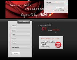 #26 para Sign Up page for Online Logo Maker de jasminkamitrovic