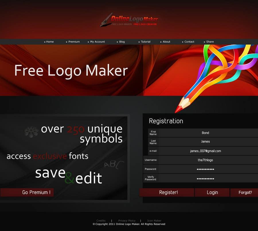 Kilpailutyö #42 kilpailussa Sign Up page for Online Logo Maker