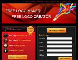 #31 para Sign Up page for Online Logo Maker por AnandLab
