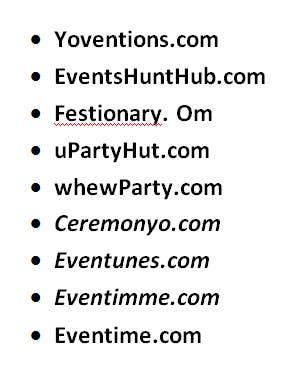 Penyertaan Peraduan #213 untuk Domain Name for Event Site