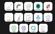 Graphic Design Kilpailutyö #2 kilpailuun Design some Icons for a stockmarket website