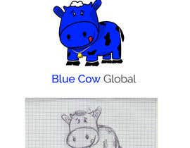 "robertlopezjr tarafından Design a Logo for our ""Blue Cow Global"" için no 57"
