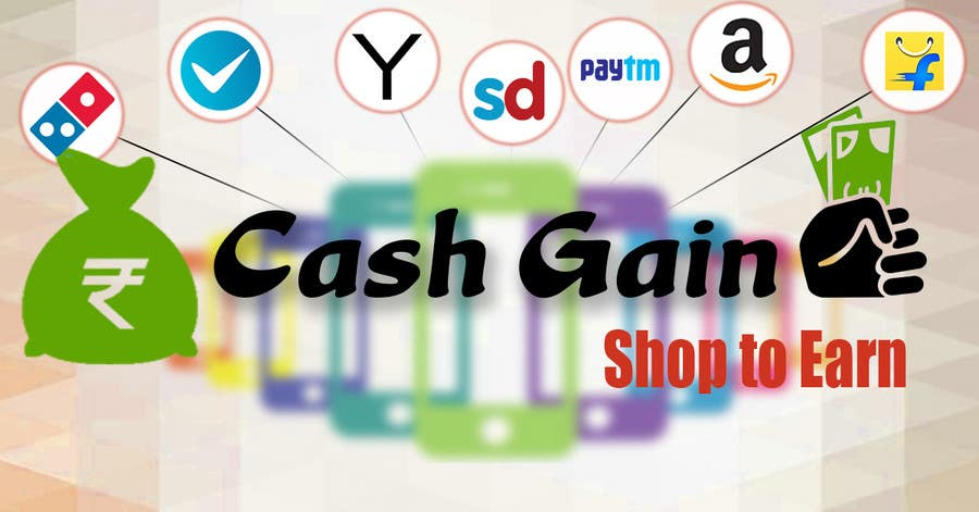 Kilpailutyö #13 kilpailussa Cash Gain app banner