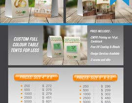 #6 for Design Email Promotion - Table Tents by Dixy89