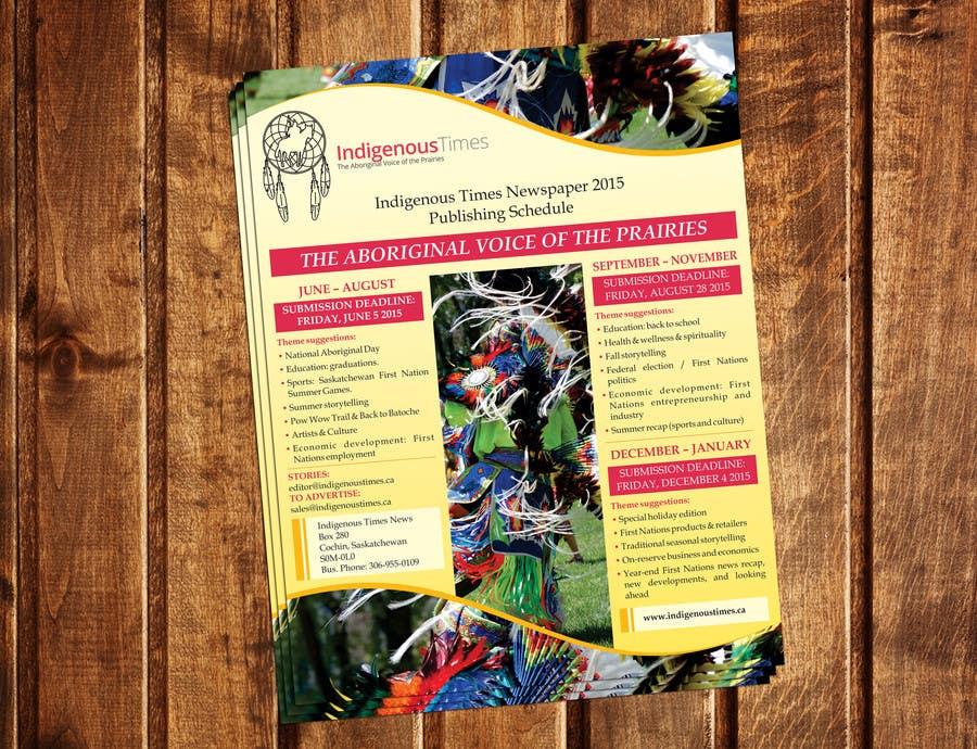 Inscrição nº 9 do Concurso para Design a Flyer for a newspaper publishing schedule