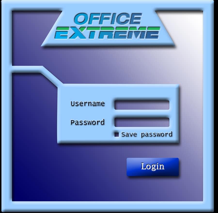 Bài tham dự cuộc thi #                                        1                                      cho                                         Design a Login Screen Mockup for OfficeExtreme.com