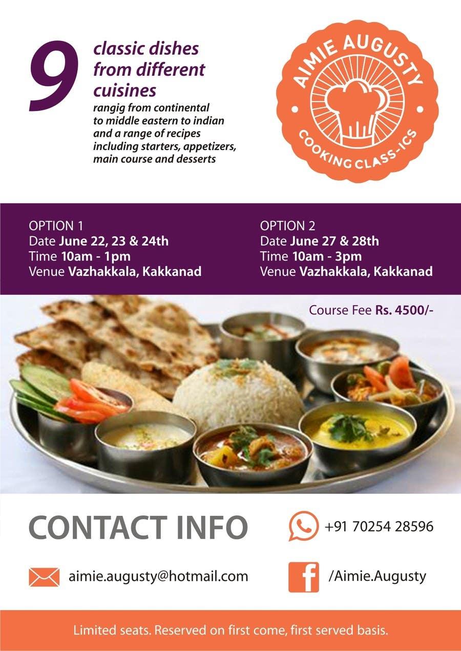 Kilpailutyö #6 kilpailussa Design a Flyer for Cooking Class