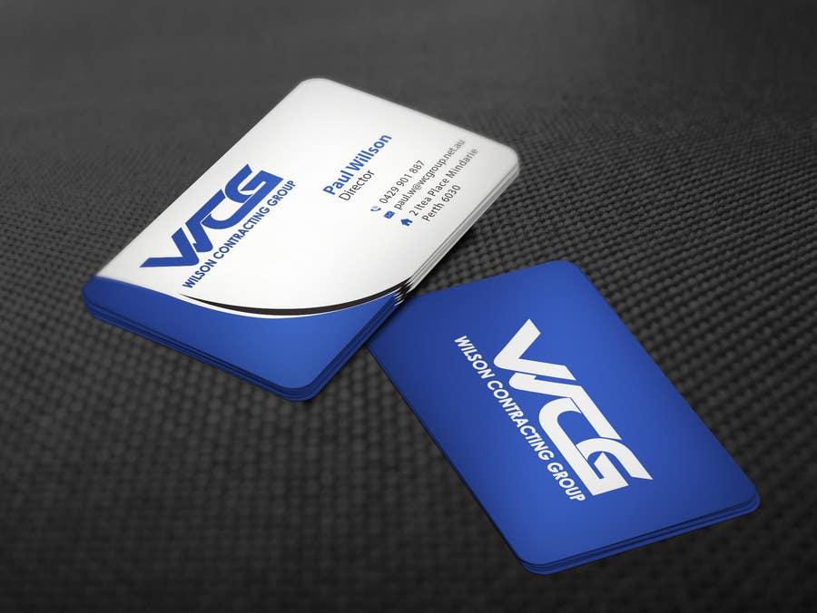 Kilpailutyö #82 kilpailussa Design some Business Cards for WCG