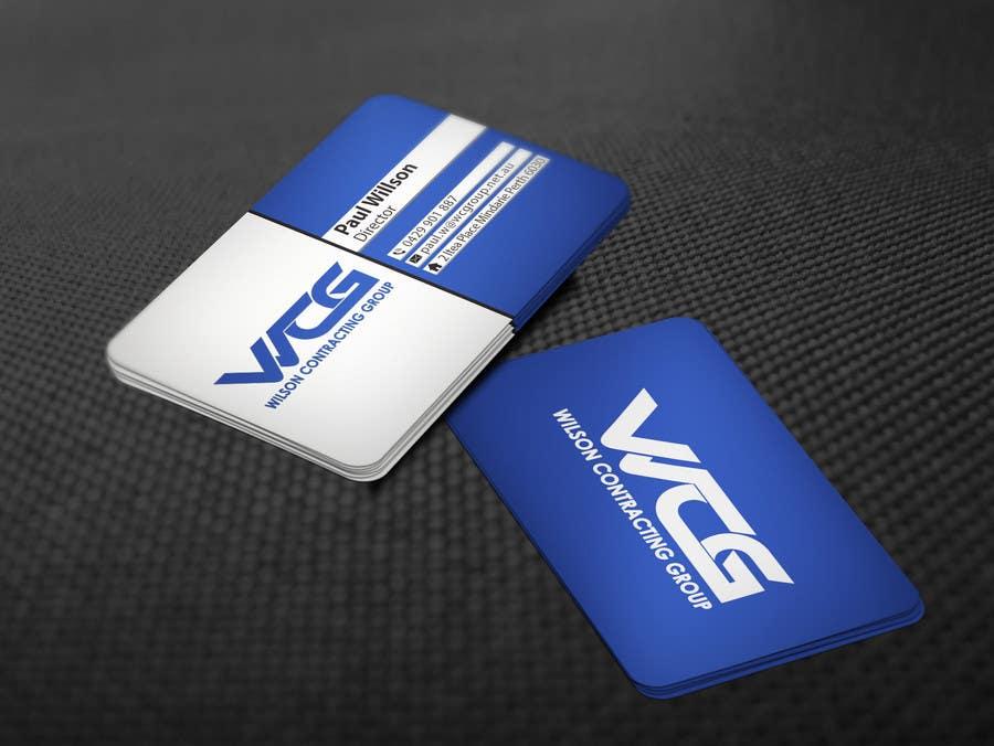 Kilpailutyö #91 kilpailussa Design some Business Cards for WCG