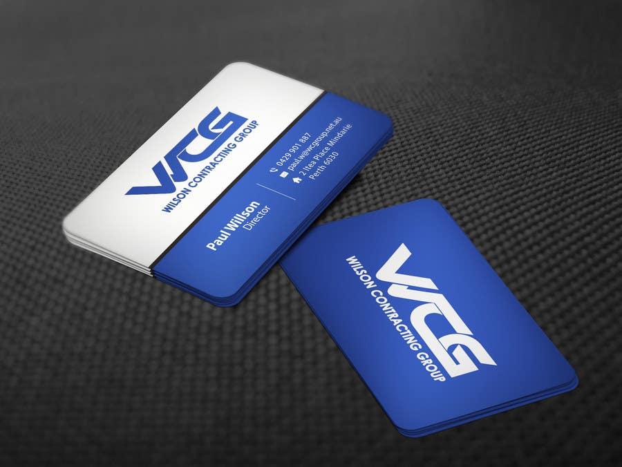 Kilpailutyö #92 kilpailussa Design some Business Cards for WCG