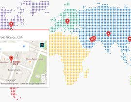 #5 for Design a responsive HTML World Map with clickable locations of our company branches af moqmar