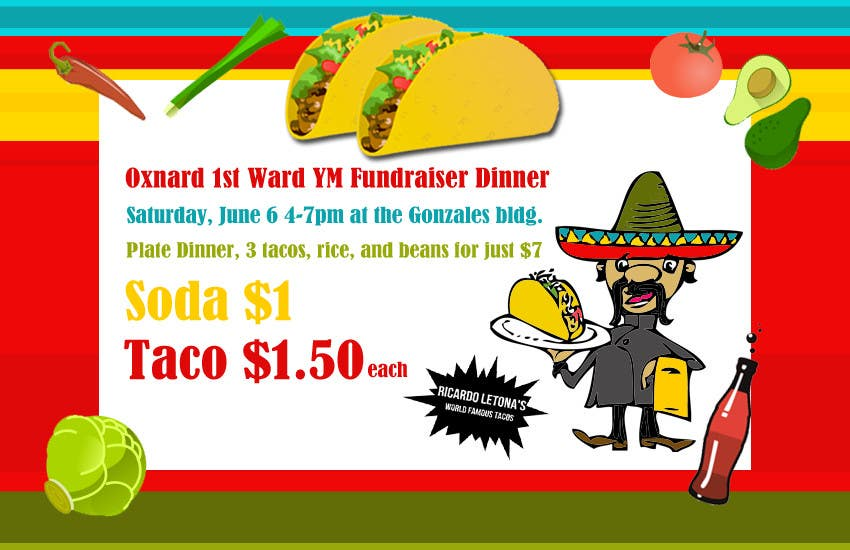 entry 4 by estenio7 for design a flyer for a taco fundraiser dinner