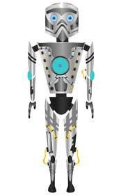 #7 for Ilustrar un robot amable af bouchtiba23