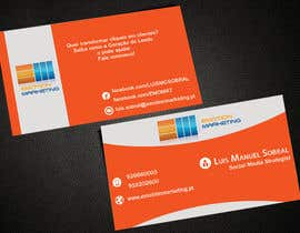 Nro 41 kilpailuun Design a vertical (two sides)Business Card + horizontal Business Card (two sides) for Emotion Marketing käyttäjältä sanratul001