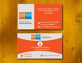 Nro 44 kilpailuun Design a vertical (two sides)Business Card + horizontal Business Card (two sides) for Emotion Marketing käyttäjältä sanratul001