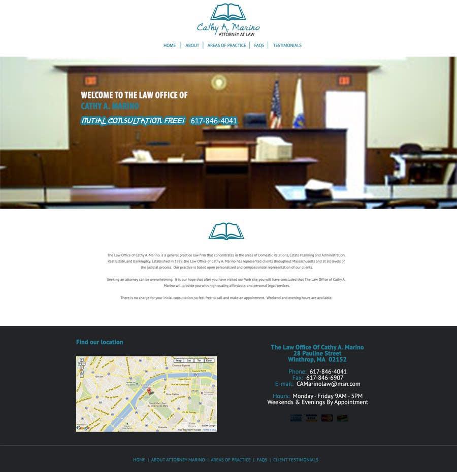 Bài tham dự cuộc thi #1 cho Design a Website Mockup for http://www.marinolaw.org
