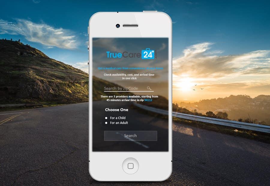 Bài tham dự cuộc thi #52 cho Design an App Mockup (The landing page only)