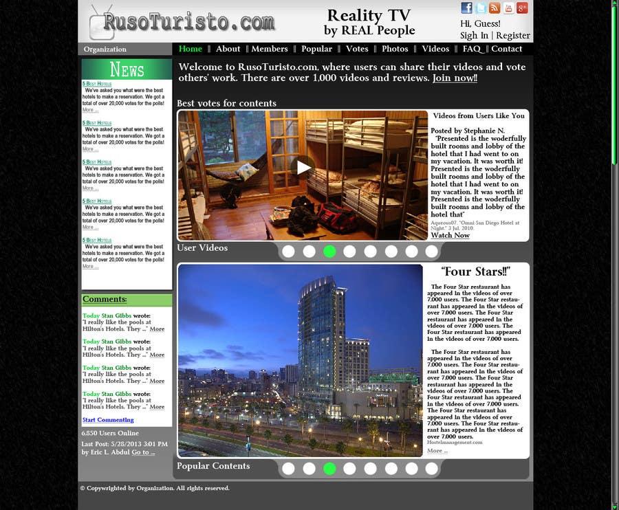 Inscrição nº                                         4                                      do Concurso para                                         Design a Website Mockup for RusoTuristo.com