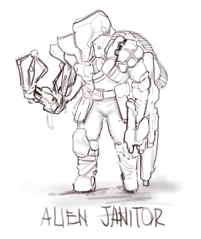 Kilpailutyö #18 kilpailussa Design 1 Sci-Fi Character Art
