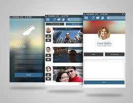 ang12123 tarafından Design an App Mockup for a social network application için no 4