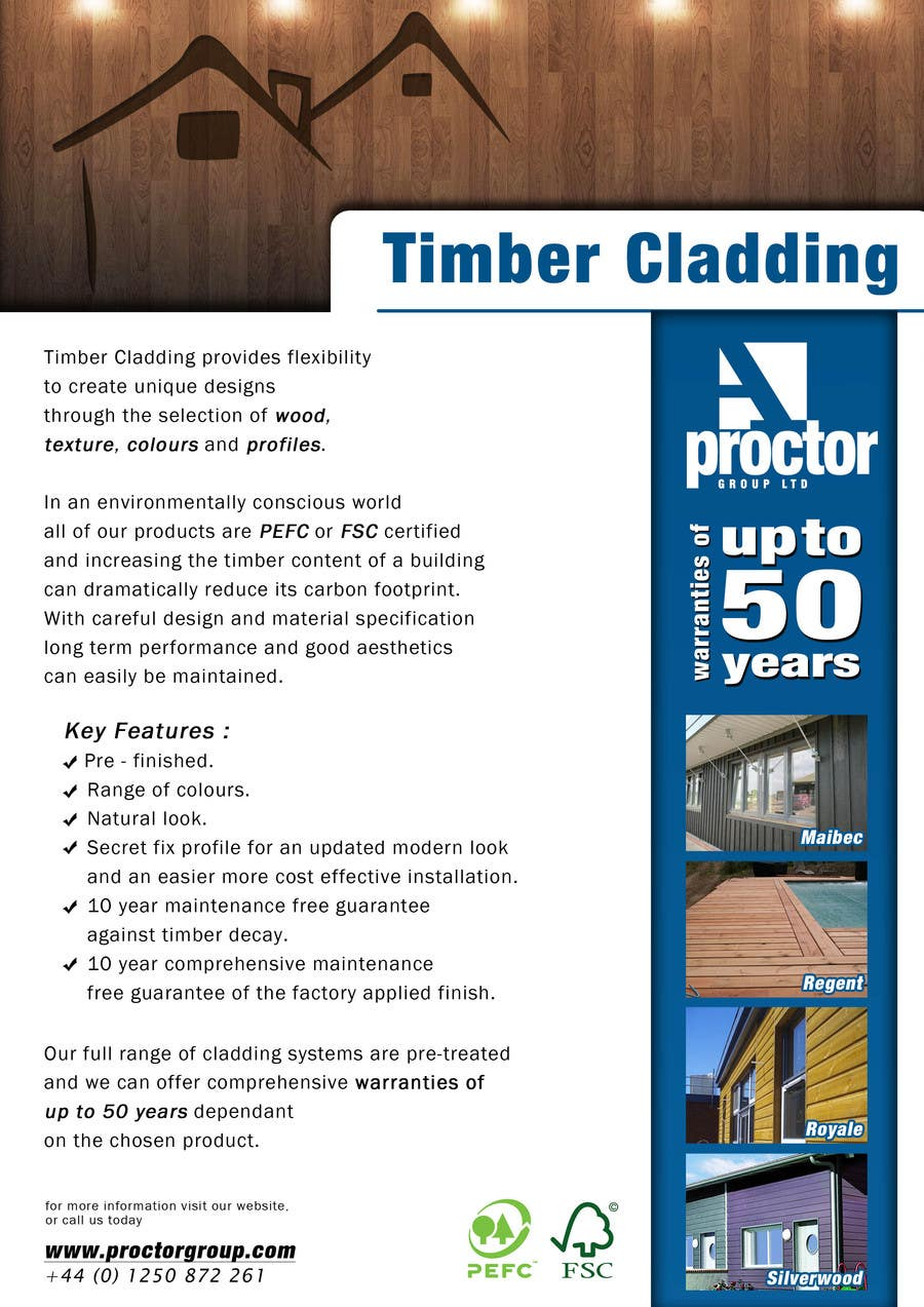 #25 for Design an Advertisement for Timber Cladding by aris77