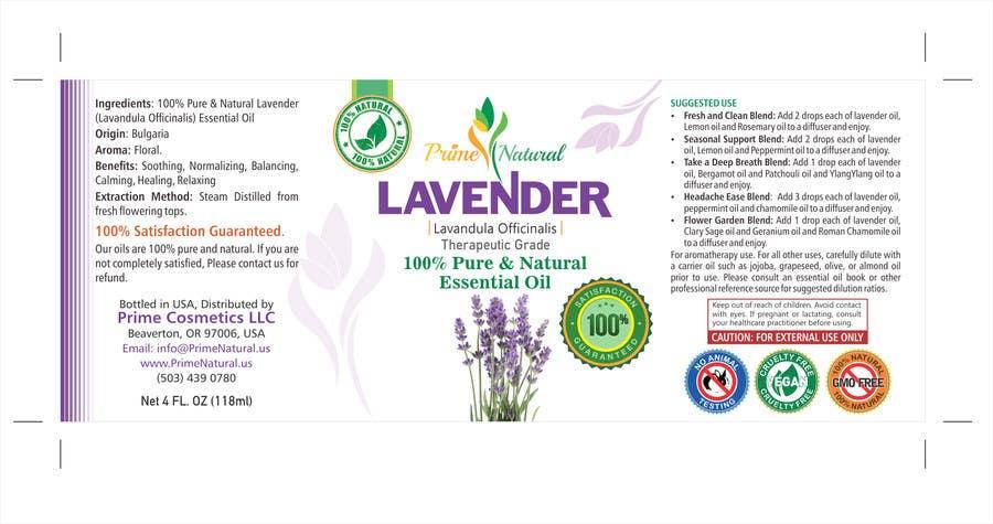 Inscrição nº 17 do Concurso para Design Product Label & refine existing logo: Essential Oil Bottle label