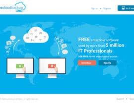 Nro 10 kilpailuun Design a Website Mockup for a single page website käyttäjältä leandeganos