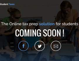 #4 for Design a Website 1-page Mockup for StudentTaxes.com by marcelocintraa