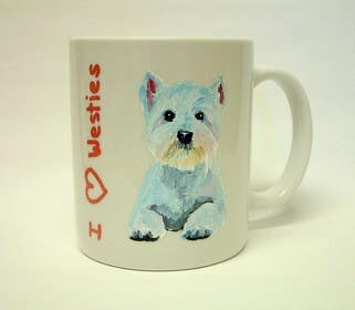 #9 untuk Coffee mug with a picture of my dog oleh angela2015
