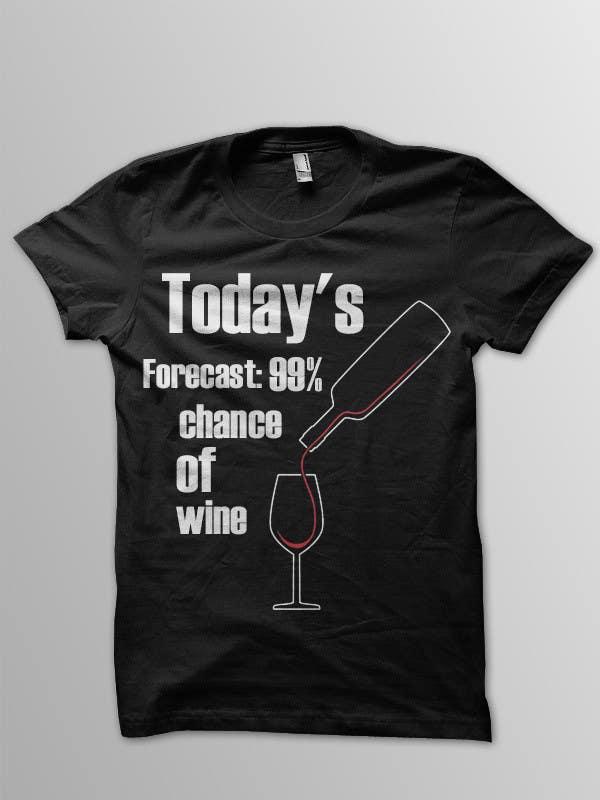 Kilpailutyö #9 kilpailussa Design a Wine based T-Shirt Tee