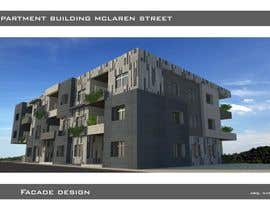 #9 untuk Design a floorplan and exterior facade for an apartment building oleh biodomo