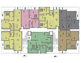 #5 untuk Design a floorplan and exterior facade for an apartment building oleh lentzarq