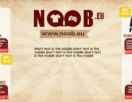 #7 untuk Design a Flyer for our e-shop NOOB.EU (gaming, movies, tv shows) oleh mermiliun