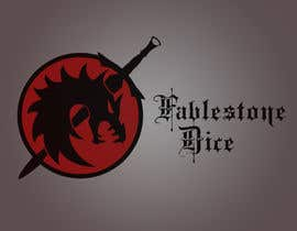 #12 untuk Design a Logo for Fablestone Dice - Fantasy roleplaying theme oleh geeeeyawn