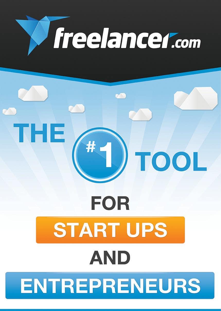 Penyertaan Peraduan #108 untuk Design a poster for Freelancer.com