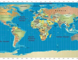 #13 cho Map of the world or map of the USA bởi fetra08