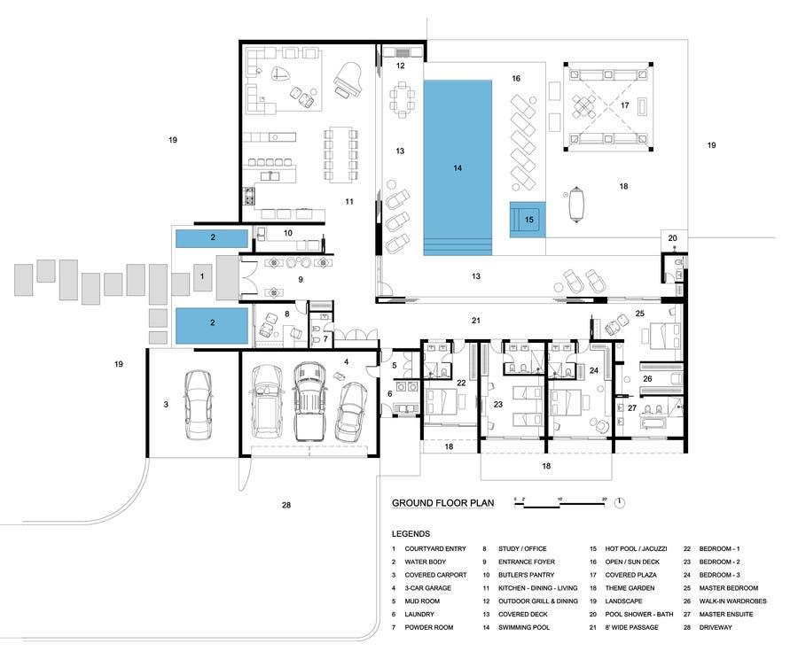 Penyertaan Peraduan #15 untuk Luxury Residential Home Design (Concept)