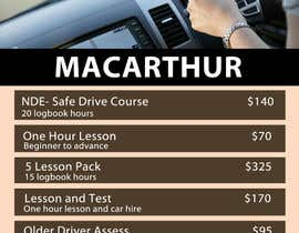 #20 for Design an price list for driving school af designsvilla