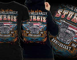 #63 for Design a (((LADIES))) T-Shirt for STURGIS 2015 75th Anniversary af MayonPunx