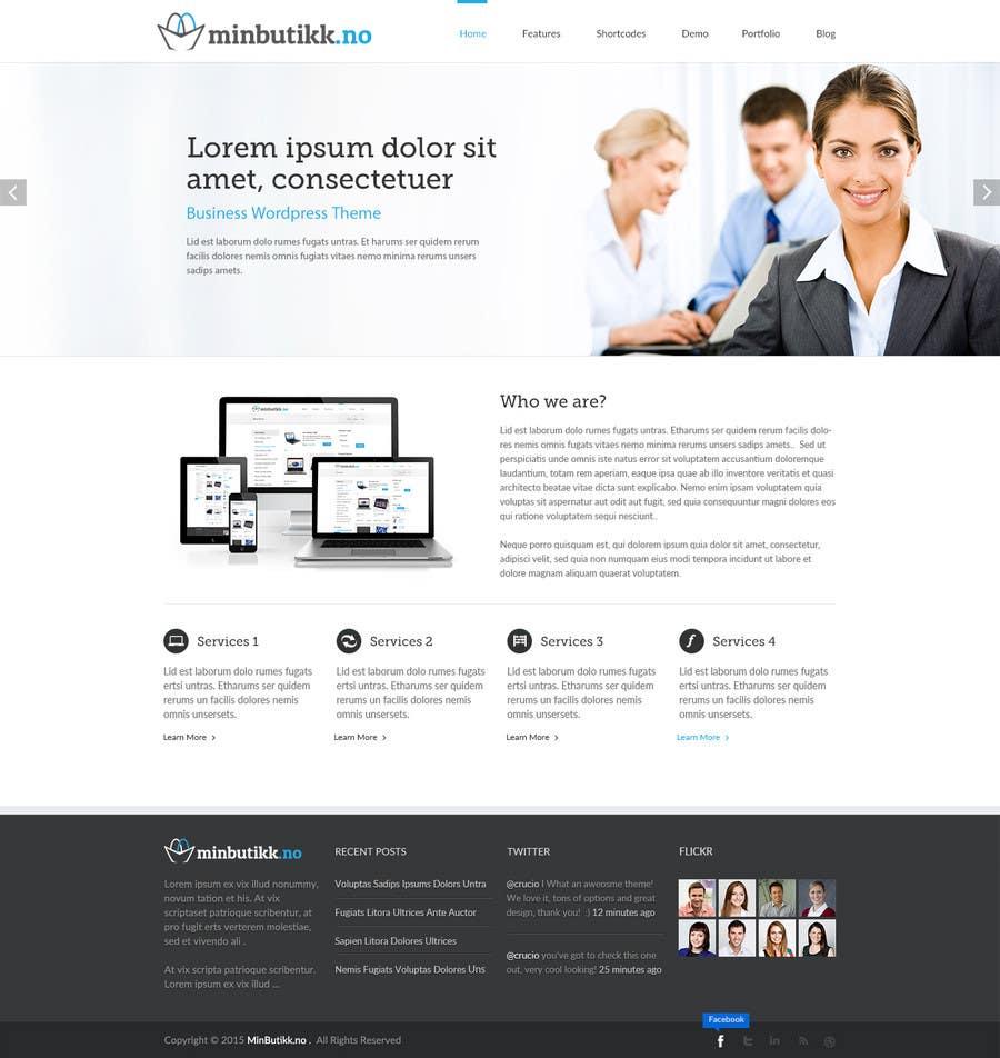 Konkurrenceindlæg #31 for Design for website (front+subpage)
