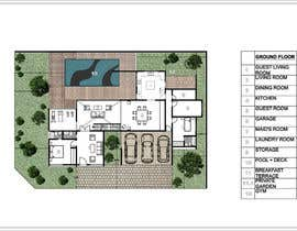 #48 untuk Floorplan for modern contemporary house oleh vlangaricas