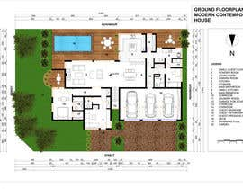 #50 untuk Floorplan for modern contemporary house oleh cveki